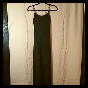 Zara Black Spaghetti Strap Maxi Dress